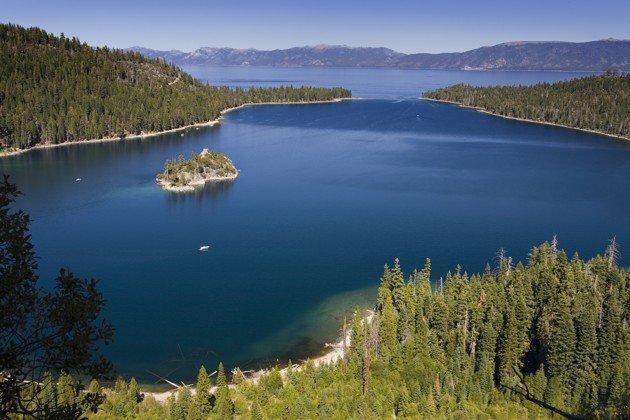 Fannette Island in Emerald Bay State Park, Lake Tahoe,California, USA